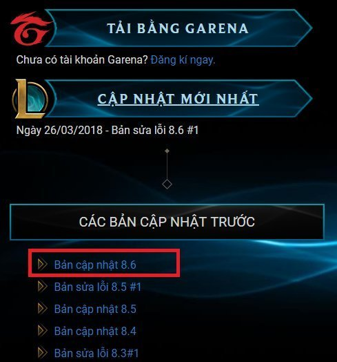 Loi Cap Nhat Lien Minh Huyen Thoai Failed 1