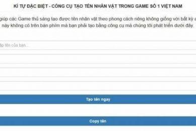 1001 Ki Tu Dac Biet An Tuong Khi Tao Ten Nhan Vat Trong Game
